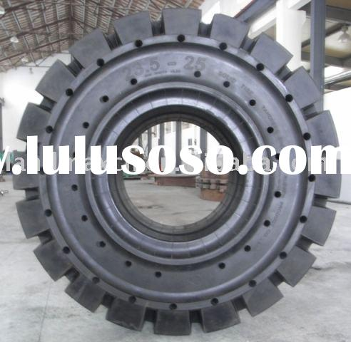 Solid Forklift tire 18.00-25, 21.00-25,17.5-25, 23.5-25, 26.5-25 for mine use.