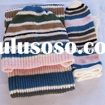 Winter sets/Glove, hat and scarf/ 3 Pcs set