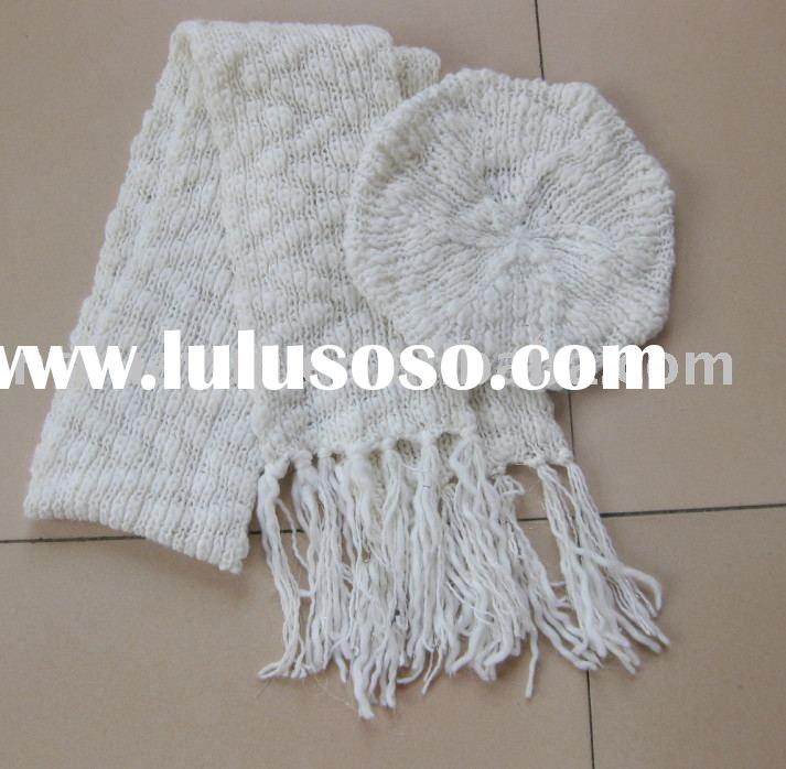 Women's crochet hat&scarf sets
