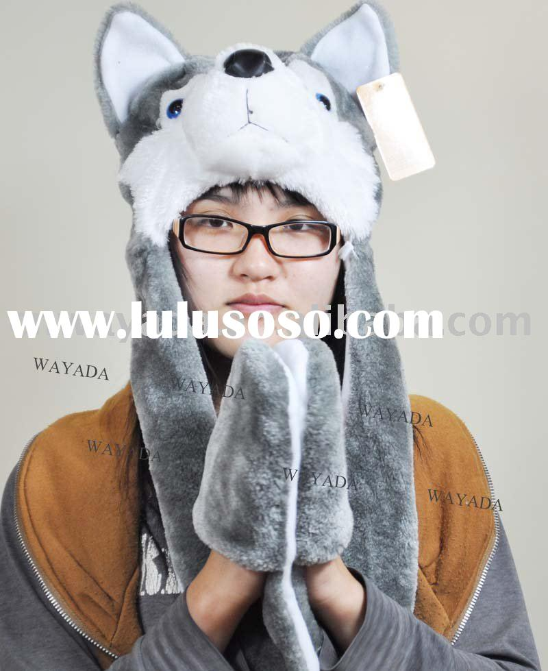 animal winter hat and scarf set