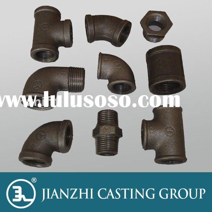 black malleable casting iron pipe FITTINGS--Jianzhi brand