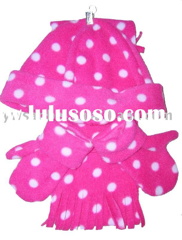 children's glove,scarf,hat 3 pcs set