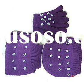 lot# :72098 fashion scarf / hat /glove set for ladies