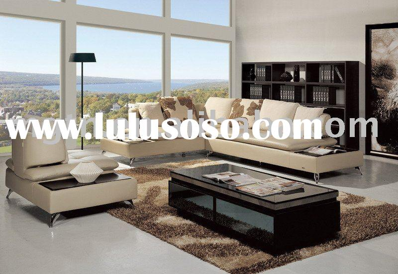 modern corner sofa /  leather sofa set / living room furniture