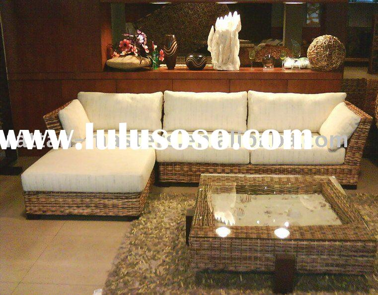 natural rattan living room furniture/sofa set