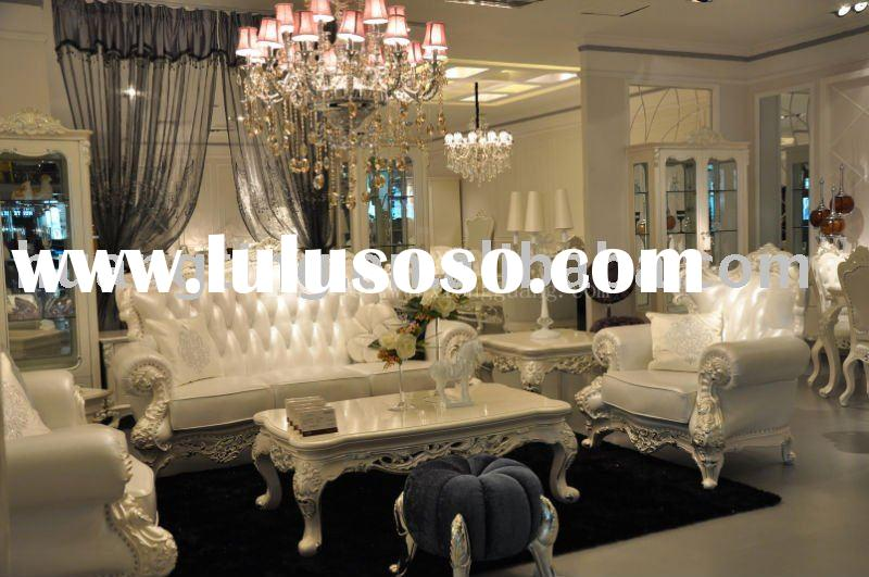 new European style  Italy leather sofa sets luxury royal leather sofa rococo french sofa