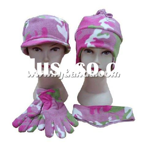 polar fleece children's hat,scarf,glove   set