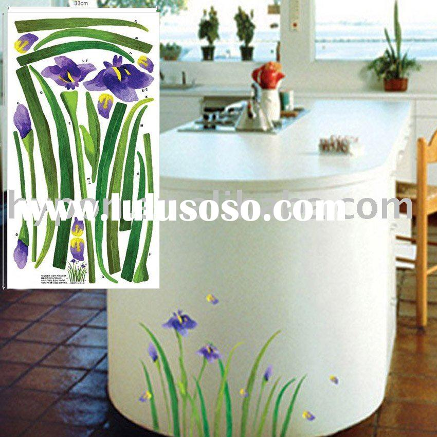 reusable dining room decorative PVC wall sticker