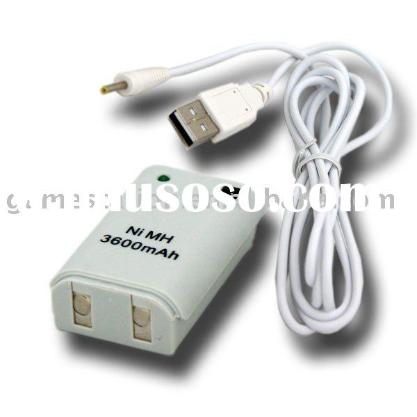 Rechargeable Controller Battery Pack+Cable For Xbox 360