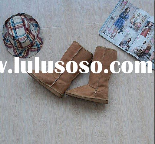 lady's fashion real leather snow boots