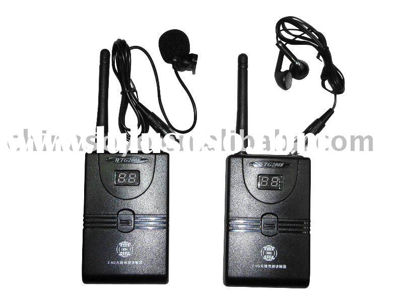 2.4G Digial Wireless tour guide interpretation system,portable transmitter and receiver