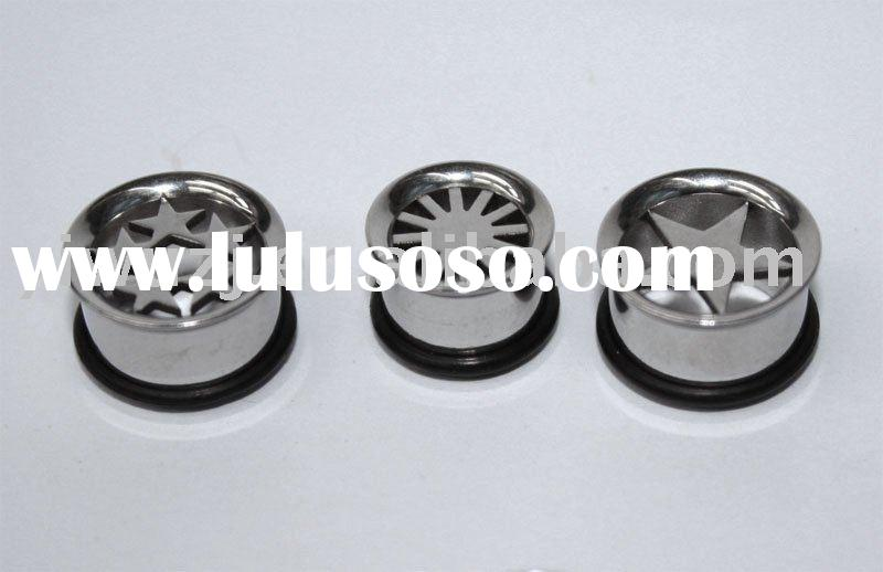 316L surgical stainless steel plugs fashion body jewelry