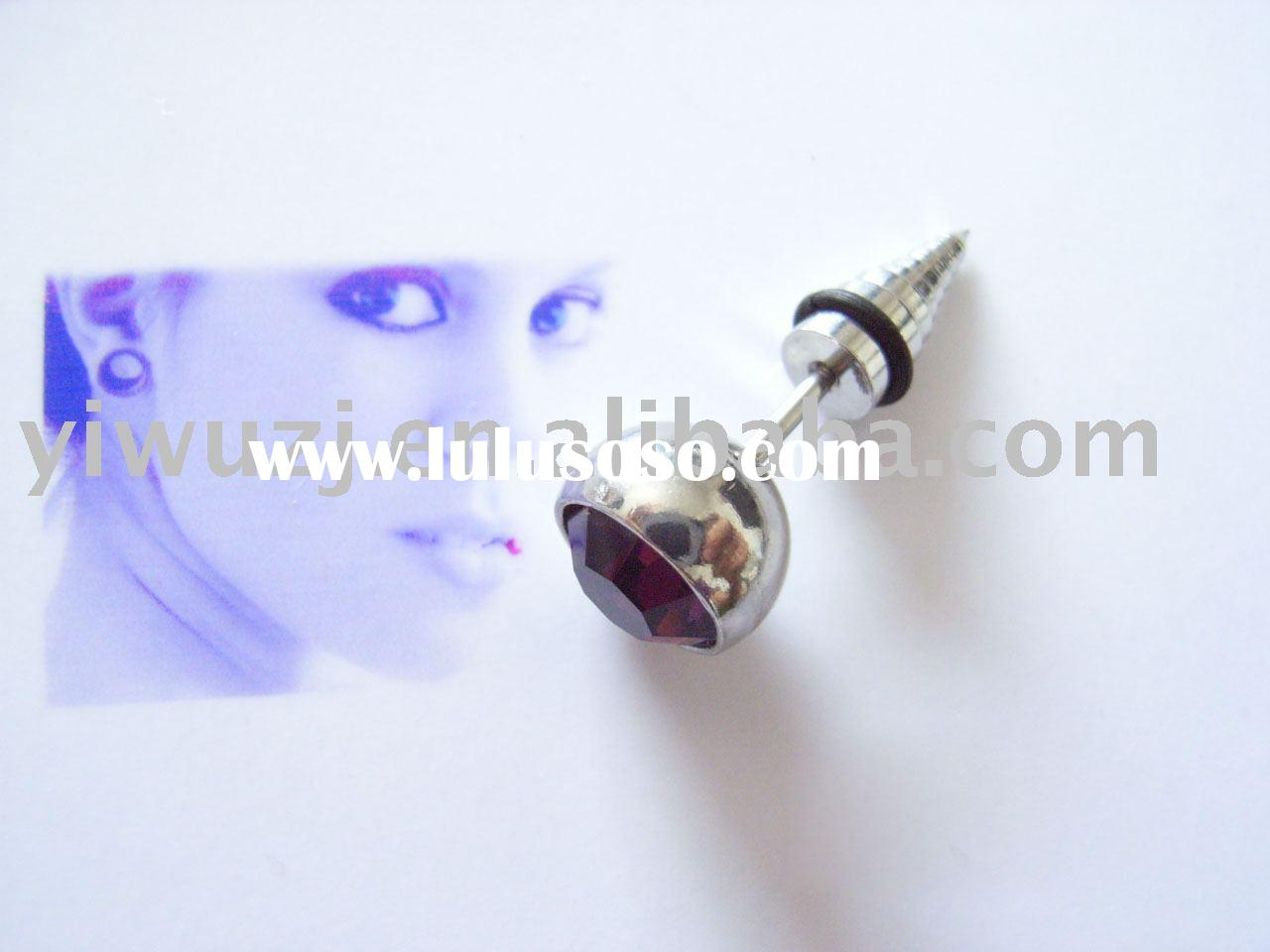 Body piercing Jewelry-ear rings expander/surgical stainless steel