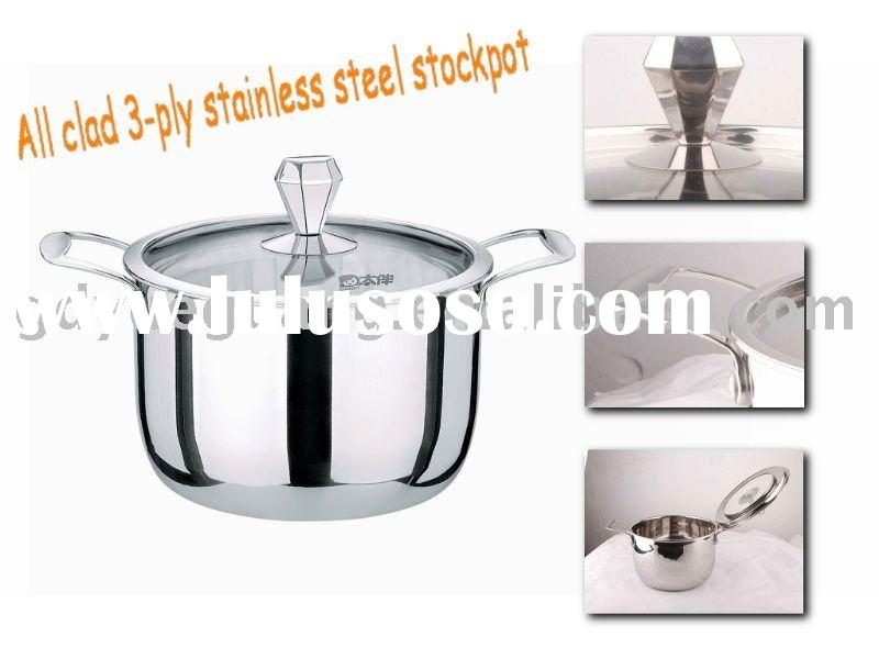 Energy-saving Non-sticked All clad alluminum cored stainless steel stockpot set