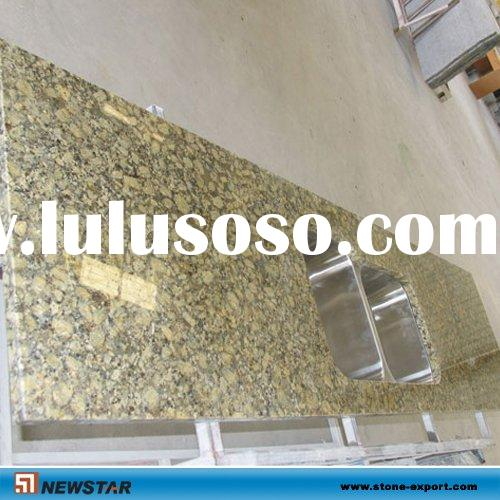Granite Countertop with Stainless Steel Sinks