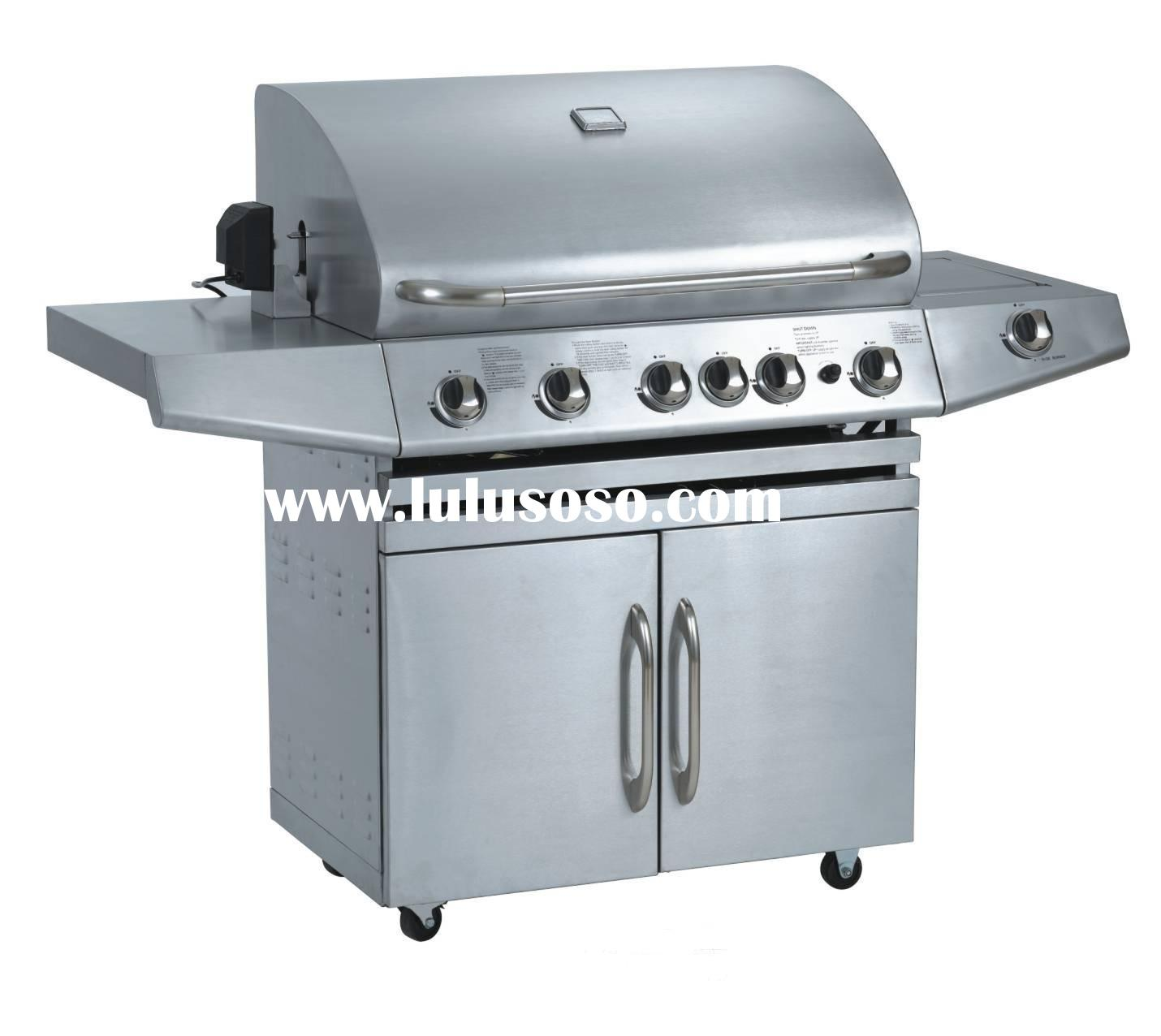 Outdoor stainless steel 5-burners with infrared burner GAS BBQ grill