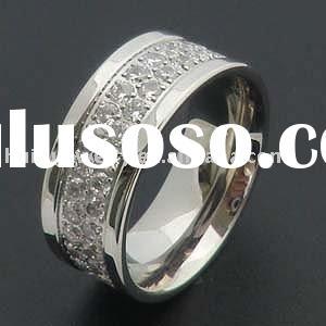 Stainless Steel Stackable Eternity Band Ring CZ CNC Set