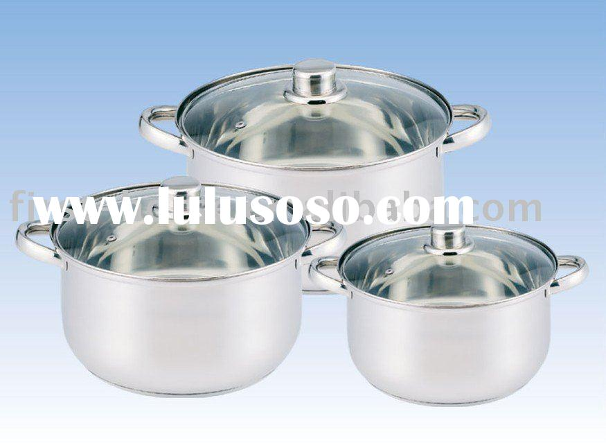 Stainless steel cookware set, 6pcs steamer set with Clean cover,Stainless steel Handle
