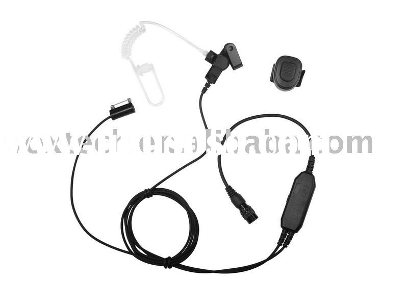 Surveillance Kit with Wireless PTT/Acoustic Tube Earpiece for Two Way Radio(ACW2220)