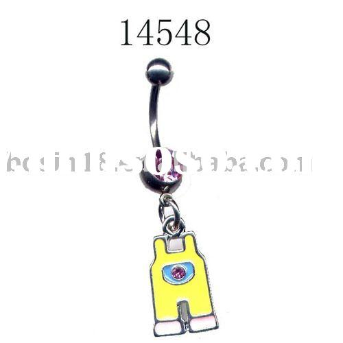 belly ring/stainless steel jewelry/surgical steel body jewelry