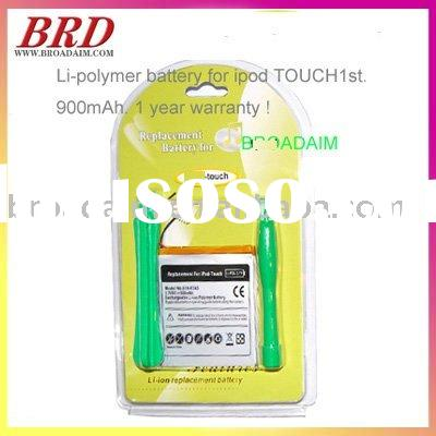 mp3 Li-Polymer battery for iPod Touch 1st 8GB 16GB 32GB Battery 900mAh + Tool