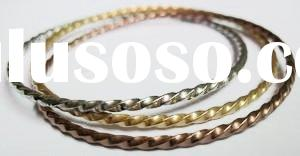 stainless steel wire jewelry with gold plating