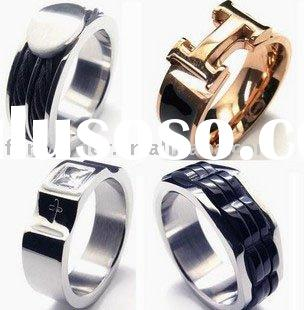wholesale dropship paypal concave surgical stainless steel jewelry ring