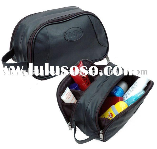 Genuine Leather Toiletry Case,travel kit,travel accessories