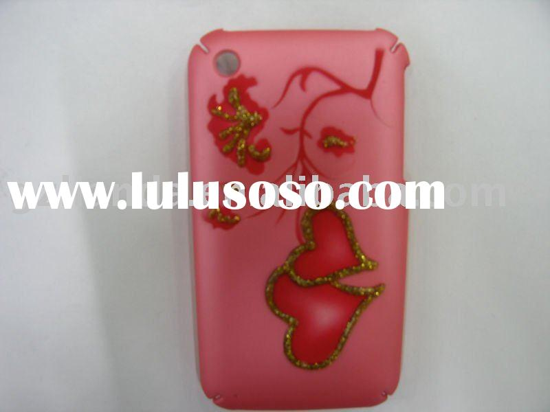 New mobile phone case leather craft pink