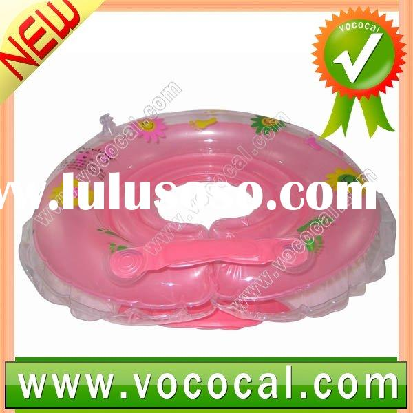 Safety Pink Baby Infant Bath Swim Kids Neck Float Bath Ring