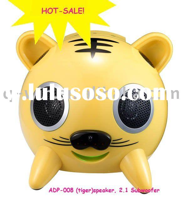 hot-sale TOUCHABLE speaker ADP-008 (lovely tiger)/ usb speaker/ computer speaker