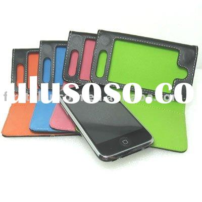 pink  leather case for iphone 3G 3Gs