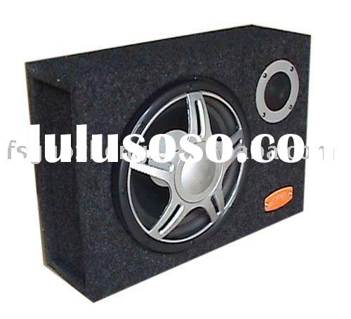 "square (thin) 12"" car subwoofer/active subwoofer with tweeter"
