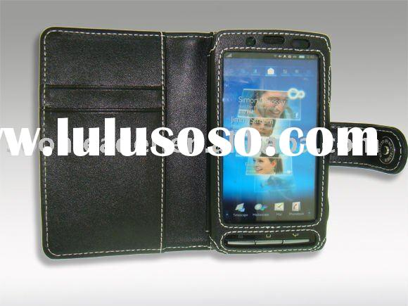 wallet leather case for Sony Ericsson Xperia X10