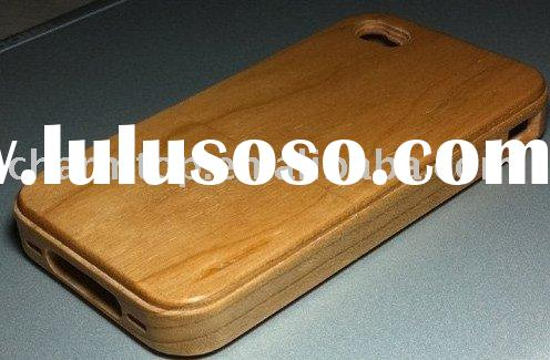 100% Real Wooden Hand-Made Case Cover for Apple iPhone 4 4G,cell phone case