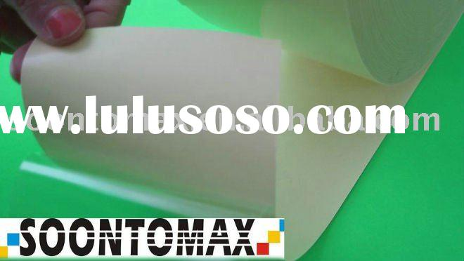 50 micron  Clear pvc sticker self adhesive material