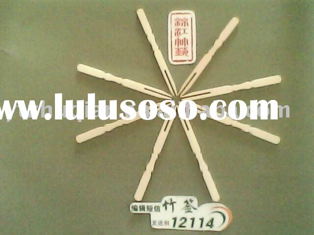 Disposable 100% natural bamboo fruit fork