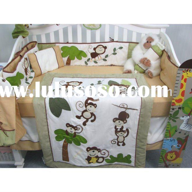 Forest Buddy Baby Infant Crib Nursery Bedding Set 10pcs