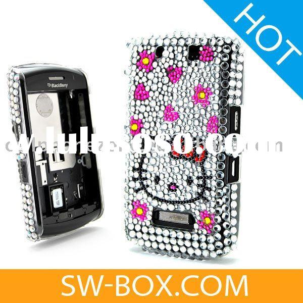 Hello Kitty Diamond Bling Case Cover For BlackBerry Bold 9000 -Pink /cell phone case for blackberry