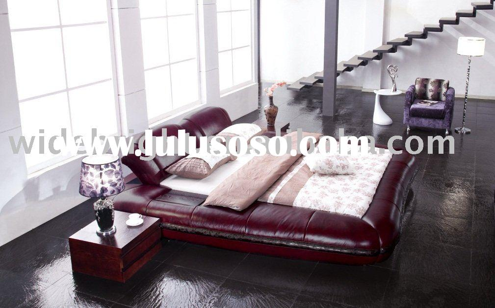 King size leather soft round bed