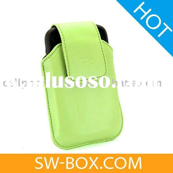 Leather Case Swivel Holster For BlackBerry Bold 9000 (Green) /mobile phone leather case