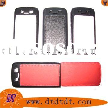 Leather cover for blackberry phone case curve 8520