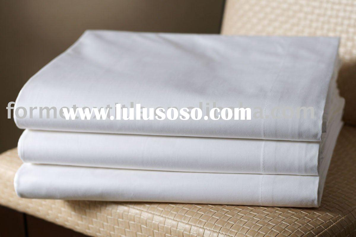 White Bed Sheet, Cotton Bed Sheet,Hotel bed sheet
