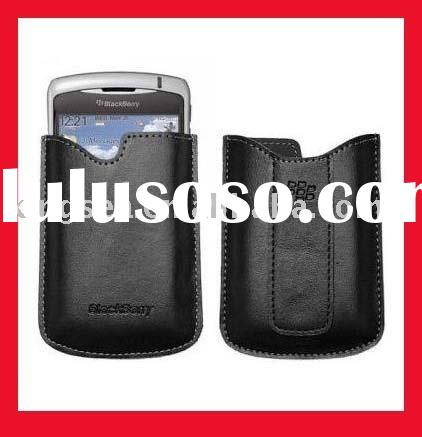mobile phone leather case  for blackberry curve 8320
