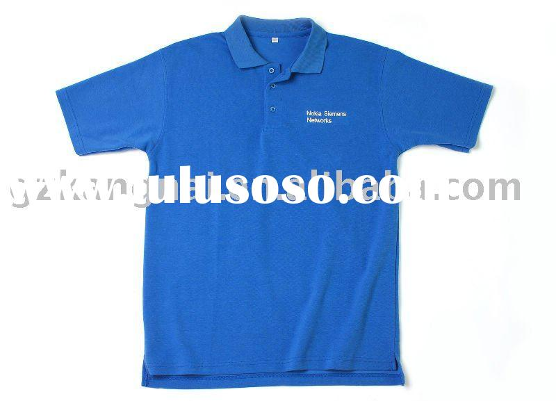 100% cotton polo t shirt with company Logo