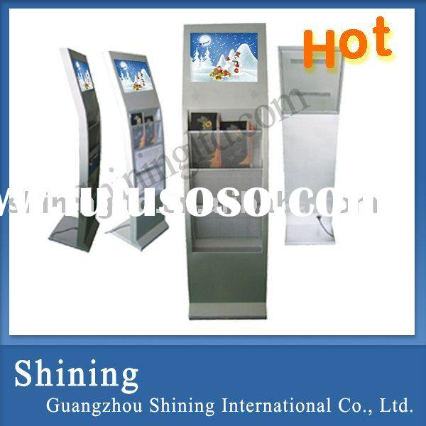 "15"" lcd advertising equipment with ground stand and catalogue loader/broadcast equipment"