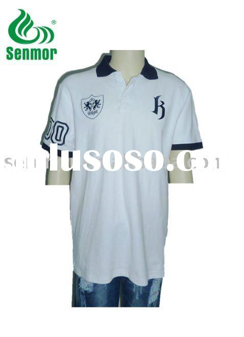 2011Men's polo-shirt with embroidery logo