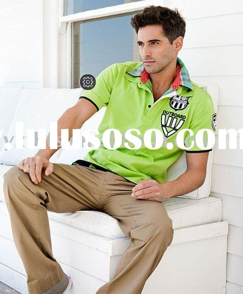 2011 new men's polo embroidery 100% cotton  t-shirt