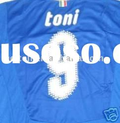 9 TONI ITALY HOME BLUE SOCCER JERSEY EURO 2008 NEW XL