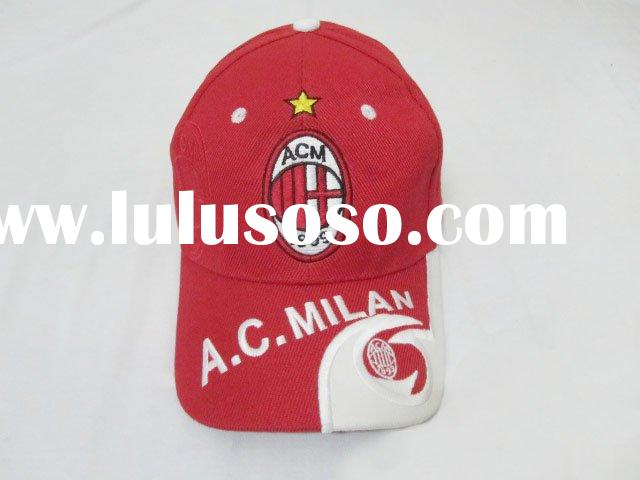 AC milan home red and white soccer caps